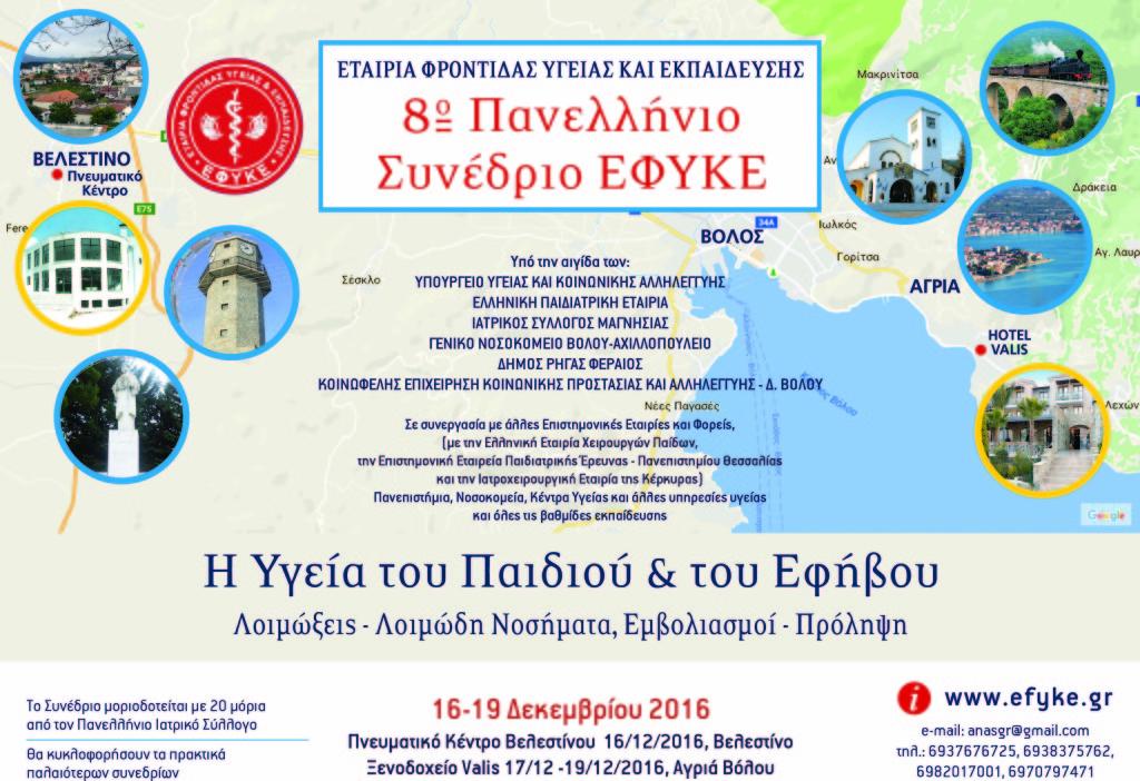 Αφίσα 8ου Πανελληνίου Συνεδρίου ΕΦΥΚΕ